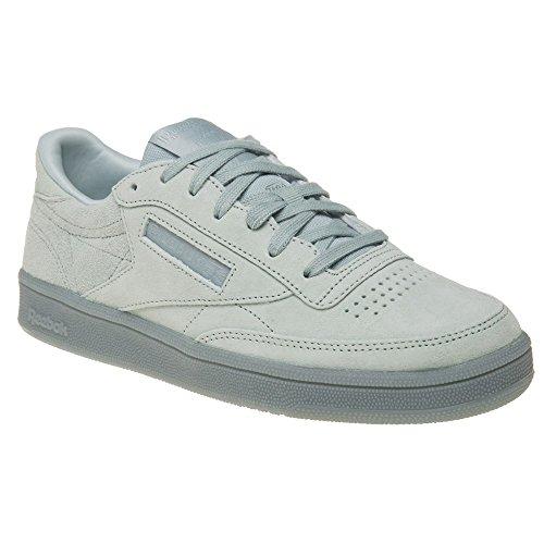 Reebok Club C 85 Lace, Zapatillas de Deporte para Mujer Gris (Seaside Grey / White)