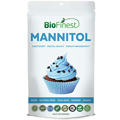 Cheap Biofinest Mannitol Powder – All-Purpose Blend Sweetener Sugar Substitution for Food – USDA Certified Organic Gluten-Free Non-GMO Kosher Vegan Friendly – for Dental Health, Weight Management (1000g)