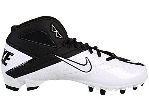 Nike Super Speed TD 3/4 Männer Fußballschuhe Schwarz / Weiß-Weiß