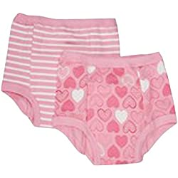 green sprouts Training Pants, Pink Heart, 3T, 2 Count
