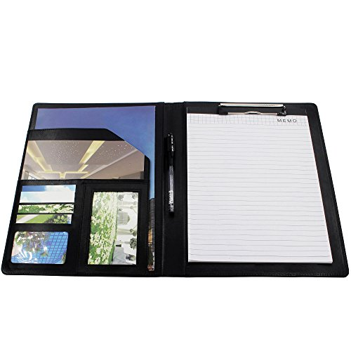 Business Padfolio Interview/Legal Document Organizer 9.7'' x 12.7'' Removable Clipboard & 8'' x 11'' Writing Pad by gootrades