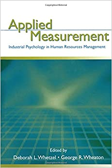 Book Applied Measurement: Industrial Psychology in Human Resources Management