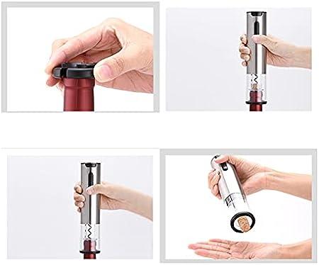 SuDeLLong Sacacorchos eléctrico Tapotear y Vino Vourer con Cable de Carga USB para el Conjunto de vinos (Color : Silver, Size : 20.3x4.8cm)