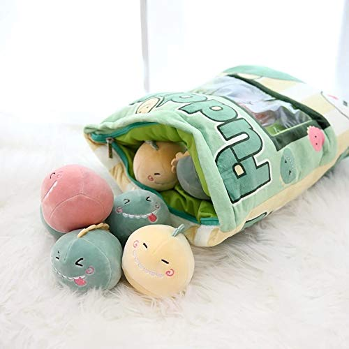 Amazon.com: Plush Green Dinosaur/Unicorns/Flamingo Toys in A ...