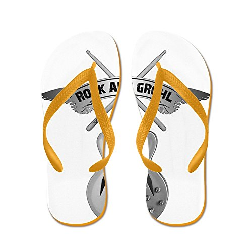 Cafepress Rock And Grohl - Tongs, Sandales Rigolotes, Sandales De Plage Orange