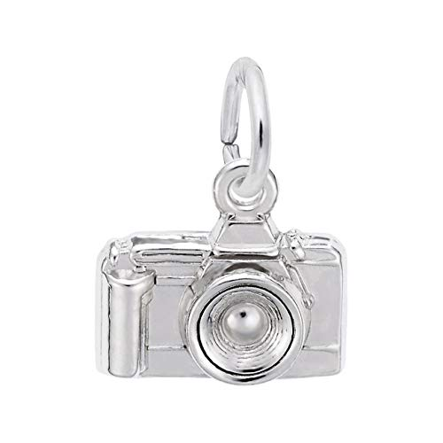 Sterling Silver Camera Charm - Sterling Silver Camera Charm