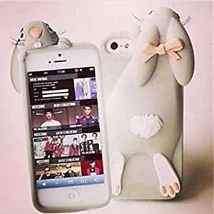 Nsaneoo - Stereo Rabit Silicon Case for iPhone 4/4S , Gray