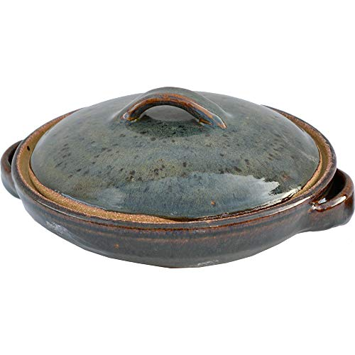 1 Quart Casserole Dish with Lid in Seamist glaze.