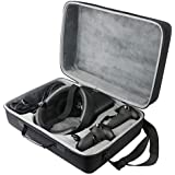 co2crea Hard Travel Case Replacement for Oculus Rift S PC-Powered VR Gaming Headset (Black Case + Inner Gray Box)