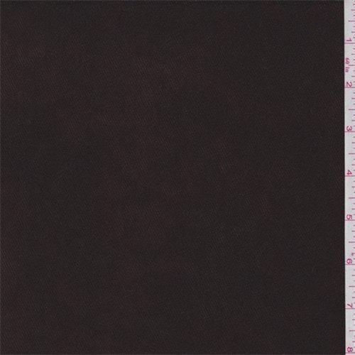Brown Moleskin (Dark Brown Twill Moleskin, Fabric By the Yard)