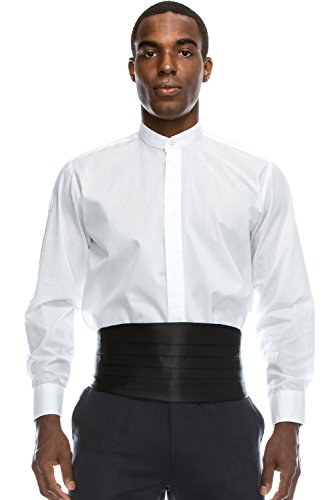 JC DISTRO Mandarin Collar Formal Dress Shirt Non-Pleat Tuxedo Shirt (2XL), ()