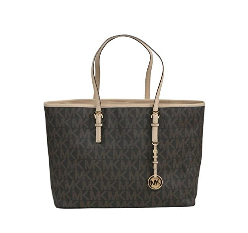 Michael Kors Medium Jet Set Travel Logo Monogram Tote (Jet Set Monogram)