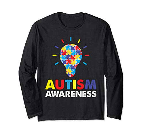 Perfect Support Autism Awareness Puzzle Piece Lng Sleeve Tee