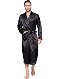 Sunrise Mens Shawl Collar Classic Satin Robe Sleepwear