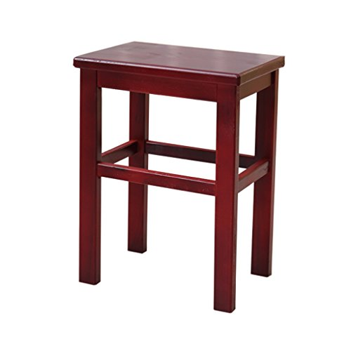LIZHIQIANG Pine Benches Folding Small Square Stool Household Generous Stool Dining Stool Shoe Stool Solid Wood Bench Children Stool (Wood Square Dining Solid Table)