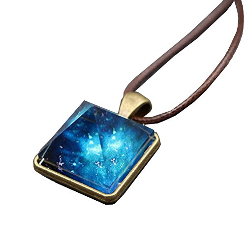 - VANTIYAUS Pyramid Pendant Necklace Charm Luminous Alloy Crystal Stone Fluorescent Green Glow in The Dark Gift for gilrs Woman