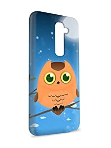 Case Fun Case Fun Orange Owl by DevilleART Snap-on Hard Back Case Cover for LG G2