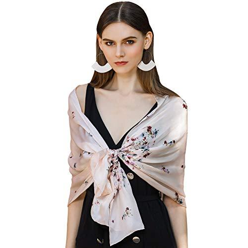 - SILIQUE 100 Silk Long Scarf, Lightweight Silk Scarf, Hijab Scarf For Women Scarfs, Charmeuse Silk Scarf