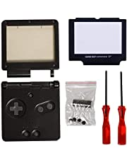 Gba sp Shell Replacement,Timorn Full Parts Housing Shell Pack Replacement for GBA SP Gameboy Advance SP (Black Pack)