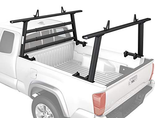 AA-Racks Model APX25-WG Aluminum Headache Rack Universal Pickup Truck Rack with 3 Bar Protector Rear Window Guard Back rack - Sandy ()