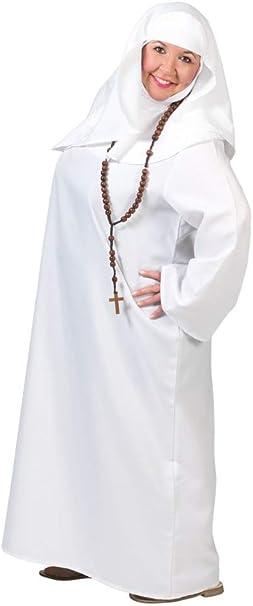 Generique - Disfraz de Monja Blanco Mujer S: Amazon.es: Juguetes y ...