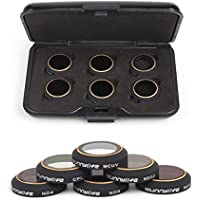 DJI Mavic Pro Drone Filters Camera Series 6-Pack Lens Filter Accessories ND4 ND8 ND16 ND32 CPL MUV Neutral Density Filter Camera Polarize Filters