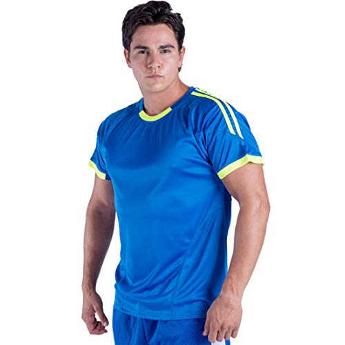 Gary Com Contrast Color Sports T Shirts for Men Short Sleeve Athletic Crew Neck Casual Tee Active Clothing