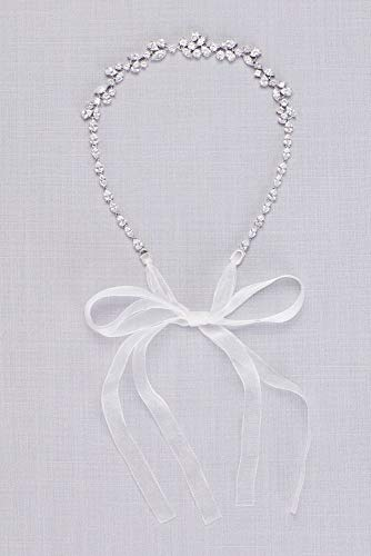 Scattered Cubic Zirconia Petals Headpiece Style BB00188HB, Silver
