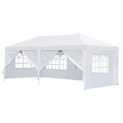 Amazon.com  Yaheetech 10u0027x 20u0027 Ez Outdoor Pop Up Shade Canopy Tent Heavy Duty Shelter Instant Folding Party Wedding Canopy Tent with 6 Removable Sidewalls ...  sc 1 st  Amazon.com & Amazon.com : Yaheetech 10u0027x 20u0027 Ez Outdoor Pop Up Shade Canopy Tent ...