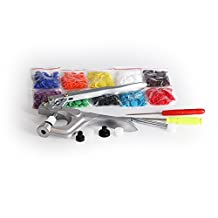 Craft Tool Die Punch Snap Kit Rivet Setter with Base for Punch Hole and Install Rivet Button (Plastic Snaps)