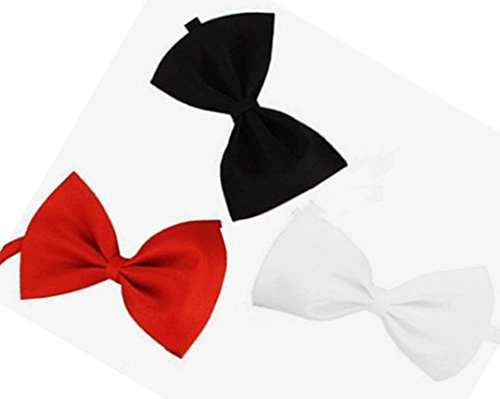 ACCENTORY Set of 3 Adjustable Puppy Bow Tie Pet Collar Perfect for Wedding Party Necktie Grooming or Bridal Accessories for Cats and Small or Medium-sized Dogs