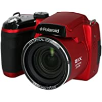 Polaroid IS2132-RED 16MP 21X Zoom Digital Still Camera with 2-Inch LCD (Red)
