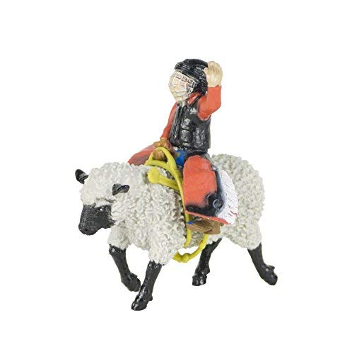 1:20 Scale Hand Painted Mutton Busting Toy Big Country Toys Mutton Buster Rodeo Figurine