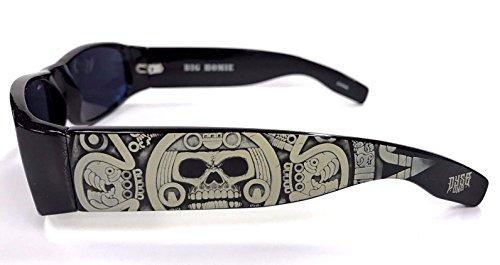 Authentic Dyse One Shades Skeleton Aztec Skullender Black Sunglasses California - California Accessories Sunglasses