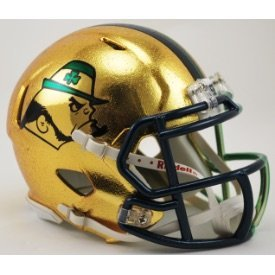 Boston College Football Helmet (Notre Dame Fighting Irish (2015 4 Boston Shamrock ) Mini Football Helmet)
