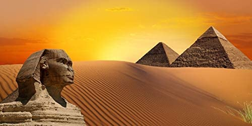 Egypt Pyramid The Great Sphinx 10x6.5ft Polyester Photography Background Pharaoh Wild Desert History Sites Travel Sunset Landscape Studio Photo Prop Backdrop Decorate Poster