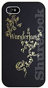 iPhone 5C Floral wonderland - black plastic case / Walt Disney And Life Quotes
