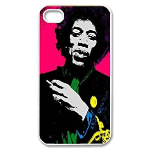 Qxhu Jimi Hendrix patterns Hard Plastic Cover Case for Iphone4,4S