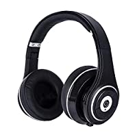SNLSY Bluetooth Headphones Over Ear Hi-Fi Stereo Foldable Portable Control Wired/Wireless Headphone with Built-in Mic and Soft Earmuffs Black