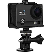 Excelvan Q5 12MP Mini Wifi Action Sports Camera with 2-Inch HD LCD 170 Degree Wide-Angle Lens and Battery (Black)