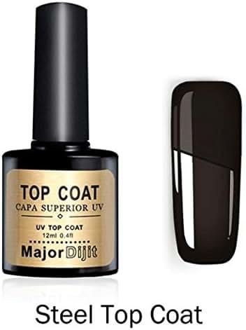 Women's Nail Gel Top Coat, Iuhan Repair Top Coat Long-lasting Soak-off LED UV Gel Color Hot Nail Gel 12ML (B)