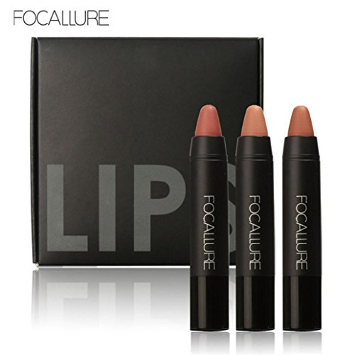 Creazy Long-lasting Red Velvet Matte Color Pencil Lipstick Crayon Makeup Set (cd2)