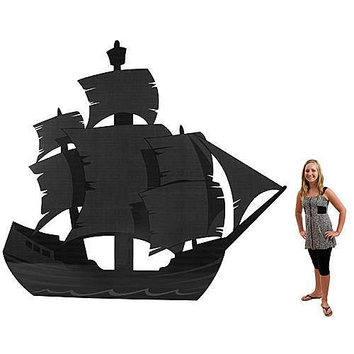 Pirate Cove Ship Shilhouette Standup Photo Booth Prop Background Backdrop Party Decoration Decor Scene Setter Cardboard Cutout