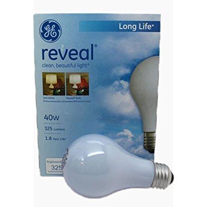 GE 48687-48 40-Watt A19 Reveal Bulbs, 48-Pack