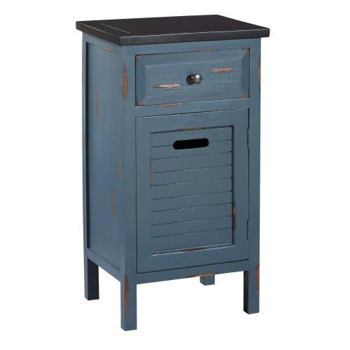 Gallerie Décor Shoreham 1-Drawer One Door Accent Cabinet, Blue