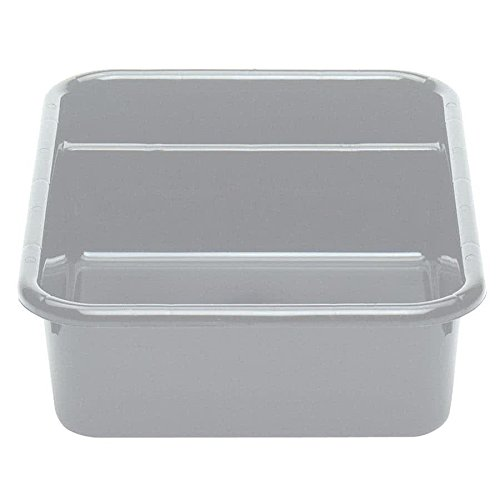 Cambro 1621CBP180 Cambox 21'' x 16'' x 5'' Light Gray Polyethylene Plastic Bus Box