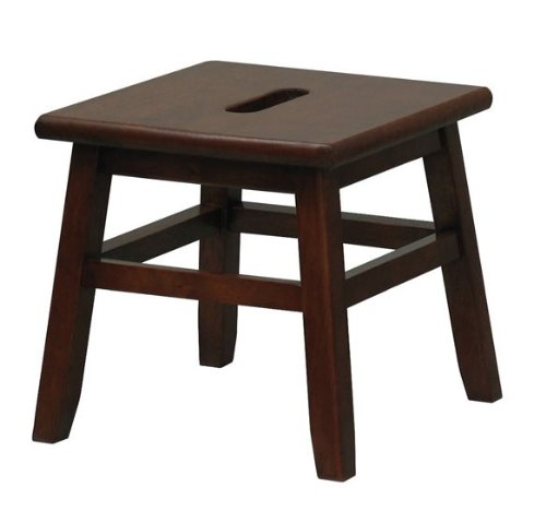 Walnut Conductor Stool - Winsome 94213 by Winsome Wood