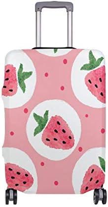 (ソレソレ)スーツケースカバー 防水 伸縮素材 キャリーカバー ラゲッジカバー ピンク いちご 果物 ドット 水玉 かわいい 可愛い おしゃれ 防塵 旅行 出張 便利 S M L XLサイズ