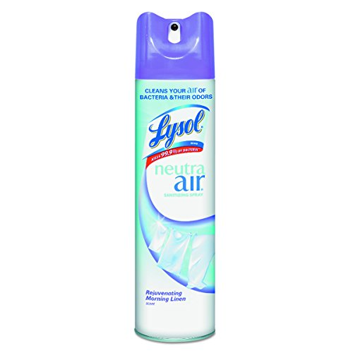 - LYSOL Neutra Air 79196 Sanitizing Spray, Rejuvenating Morning Linen, 10 oz Aerosol Can (Case of 12)