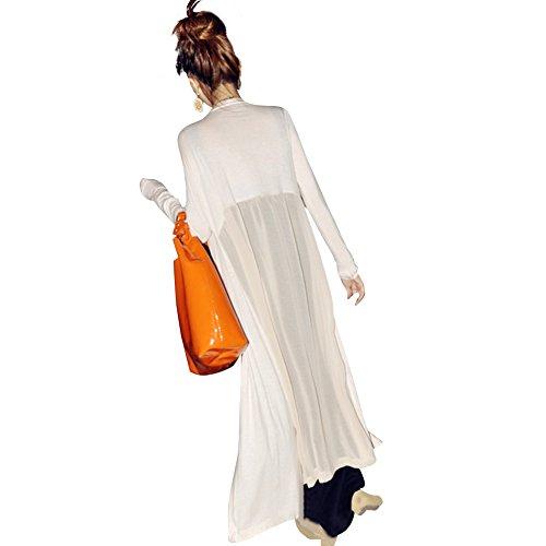 Femme beige unique Eleery taille noir Manteau blanc 05nwqF